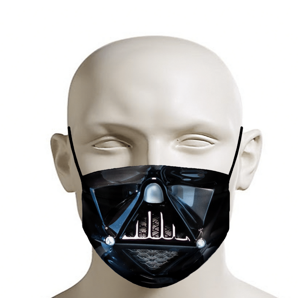Darth Vader face mask, funny coronavirus mask.