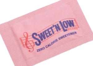 Sweet'N Low saccharin packet
